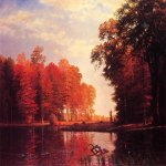 Albert Bierstadt (1830-1902)  Autumn Woods  Oil on canvas, 1886  New York Historical Society, New York